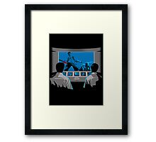 Groovy Puppeteers  Framed Print