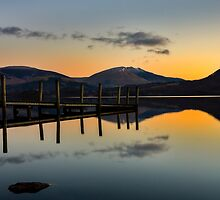 Jetty Sunrise - Derwentwater by David Lewins
