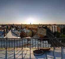 SUNSET OWER THE RIGA, panorama, Riga, Latvia by paulsrphoto