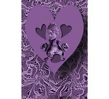 ღ♥¸¸.•*´¯`♥ღ PURPLE HEARTS OF LOVE IPHONE CASE  ღ♥¸¸.•*´¯`♥ღ by ✿✿ Bonita ✿✿ ђєℓℓσ