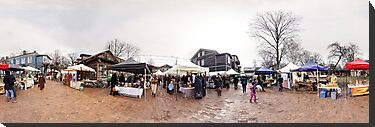 Trade fair panorama, Riga, Latvia by paulsrphoto