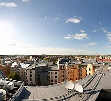 From the birds eye panorama, Riga, Latvia by paulsrphoto