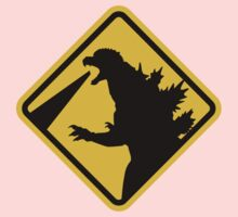 Beware of Japanese Monsters Road Sign Kids Clothes