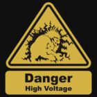 Blanka High Voltage Road Sign from Street Fighter by eZonkey