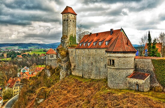 Veldenstein Castle, Bavaria, Germany. by David A. L. Davies