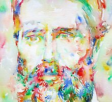 HERMAN MELVILLE watercolor portrait.1 by lautir