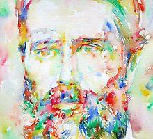 HERMAN MELVILLE watercolor portrait.1 by lautir