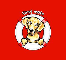 Golden Retriever :: First Mate by offleashart