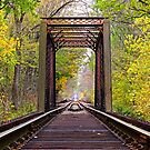 Railroad Trestle in Early Autumn by Kenneth Keifer
