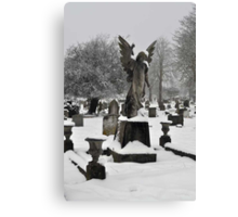 Angel in the Snow ~ St Albans, Hertfordshire, 2013 Canvas Print