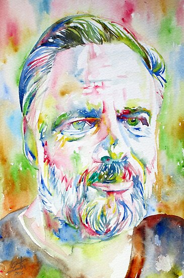 PHILIP K. DICK watercolor portrait.1 by lautir
