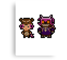 Pixel Reverse Annie (and Tibbers) Canvas Print