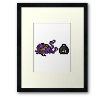 Pixel Ultros, The Main Villain Framed Print