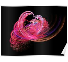 Fractal - Heart - Lets be friends Poster