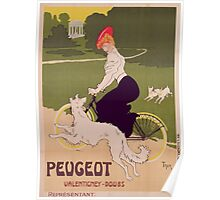 Poster advertising Peugeot bicycles Poster