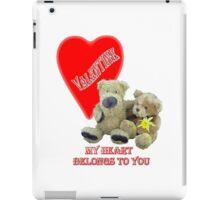 Teddy Valentine  iPad Case/Skin