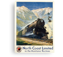 North Coast Limited in the Montana Rockies, Northern Pacific advertisement Canvas Print
