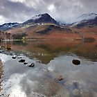 High Crag and High Stile, Buttermere Lake District by Martin Lawrence