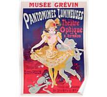 Poster advertising 'Pantomimes Lumineuses, Theatre Optique de E. Reynaud' at the Musee Grevin Poster