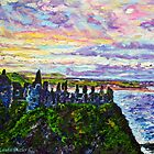 Tranquil Outlook, Dunluce Castle, County Antrim. Painted from a photo by Sean McAughey by Laura Butler