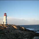 Peggys Cove at Dawn Nova Scotia Canada by Shawna Mac by Shawna Mac