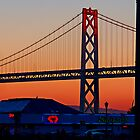 the Bay Bridge at Sunset by Yukondick
