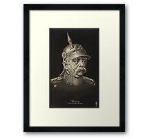 Postcard of Otto von Bismarck, c.1895 Framed Print