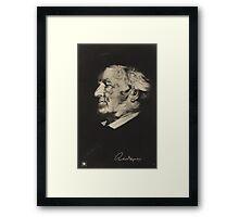 Postcard of Richard Wagner Framed Print