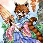 Red Panda Stroll by meredithdillman