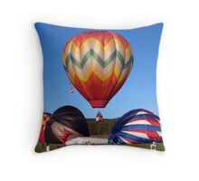 First Off The Ground Throw Pillow