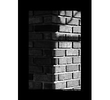 Brick Wall On West Main Street - Riverhead, New York Photographic Print