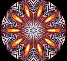 Candle Tea Light Vase Kaleidoscope 006 by fantasytripp