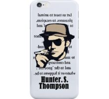Hunter.S.Thompson. Words. iPhone Case/Skin