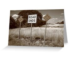 Route 66 - End of the Road Greeting Card