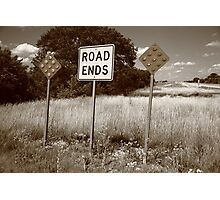 Route 66 - End of the Road Photographic Print