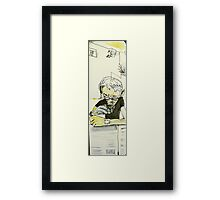 news and coffee at Krave Framed Print