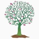 LOVE TREE beautiful oak with love hearts by jazzydevil