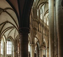 Promenade apse end of Coutances Cathedral 198402190029 by Fred Mitchell