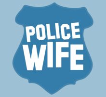 Police WIFE on a policeman shield badge  by jazzydevil