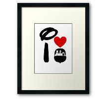 I Heart Haunted Mansion Framed Print
