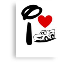 I Heart Cars Land Canvas Print