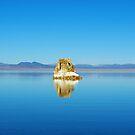 Tufa island, Mono Lake, California by Claudio Del Luongo