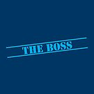 THE BOSS in blue stencil important type! by jazzydevil