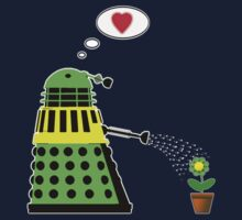 Flower Power - Dalek T Shirt by BlueShift