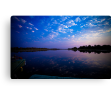 Okavango Boat Ride Sunset Canvas Print