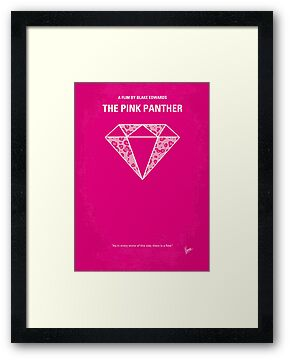 No063 My Pink Panther minimal movie poster by Chungkong