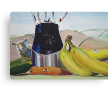 Surreal Fruit Vegetable Still Life with Sheep Canvas Print