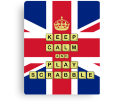 Keep Calm And Play Board Games Canvas Print