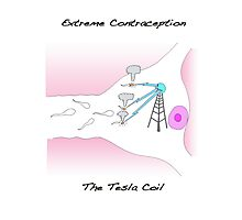 Extreme Contraception: The Tesla Coil Photographic Print