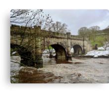 The Wharfe in Flood Metal Print